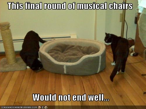 This final round of musical chairs   Would not end well...