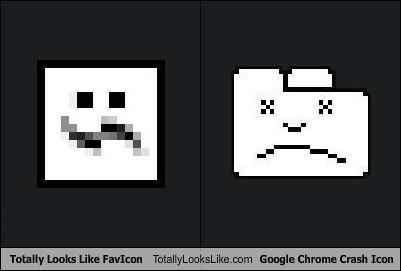 Totally Looks Like FavIcon Totally Looks Like Google Chrome Crash Icon
