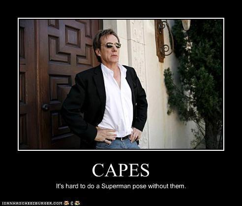 cape,james woods,posing,superman