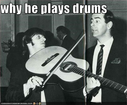 why he plays drums
