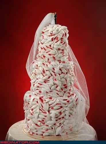 bride,cake topper,confusing,Dreamcake,eww,groom,gross wedding cake,long veil,surprise,Wedding Themes,worms,wtf