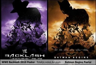 WWE Backlash 2010 Poster Totally Looks Like Batman Begins Poster
