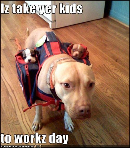 Iz take yer kids   to workz day