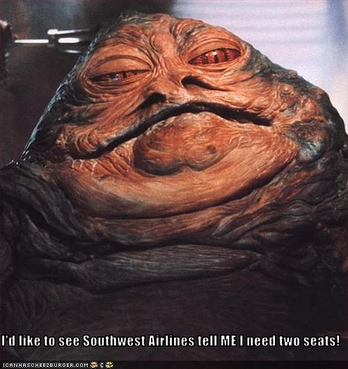 I'd like to see Southwest Airlines tell ME I need two seats!