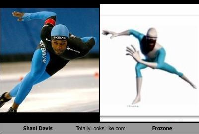 animation,athlete,frozone,olympics,pixar,shani davis,speedskating,the incredibles