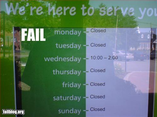 Service Fail