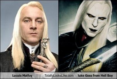 Lucuis Malfoy Totally Looks Like luke Goss from Hell Boy