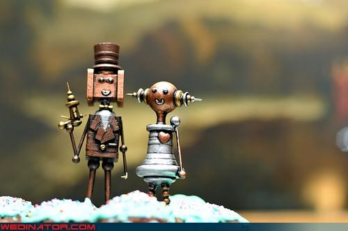 awesomeness,Bling,cake topper,Dreamcake,Steampunk,the jetsons,were-in-love,Wedding Themes