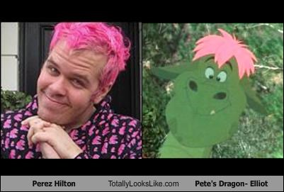Perez Hilton Totally Looks Like Pete's Dragon- Elliot