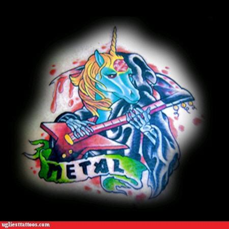 bloodnguts,guitars,mythical creatures,unicorns,words