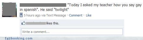 insults,oh snap,spanish,teachers,twilight