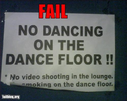 Epic Fail in a NYC night club.