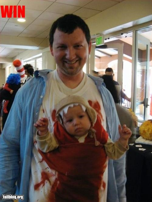 alien,awesome,baby,costume,dad,g rated,win