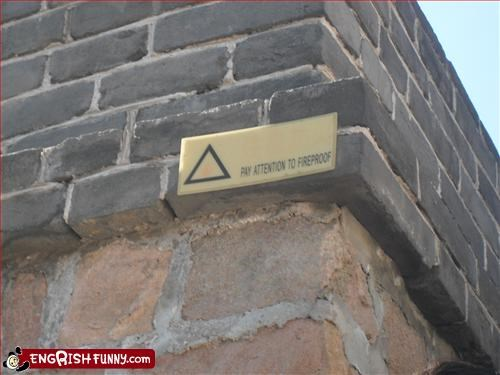attention,fireproof,g rated,great wall of china,signs