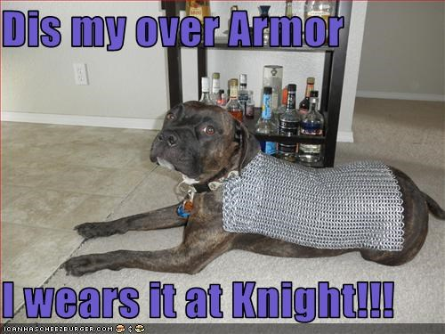 Dis my over Armor  I wears it at Knight!!!