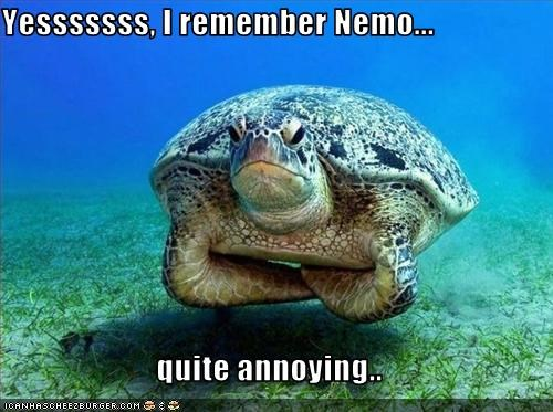 Yesssssss, I remember Nemo...  quite annoying..