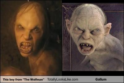 boy,gollum,Lord of the Rings,movies,wolfman