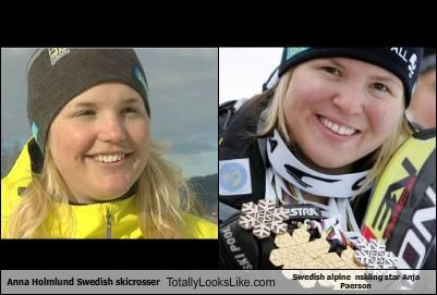 Anna Holmlund Swedish skicrosser Totally Looks Like Swedish alpine  nskiing star Anja Paerson