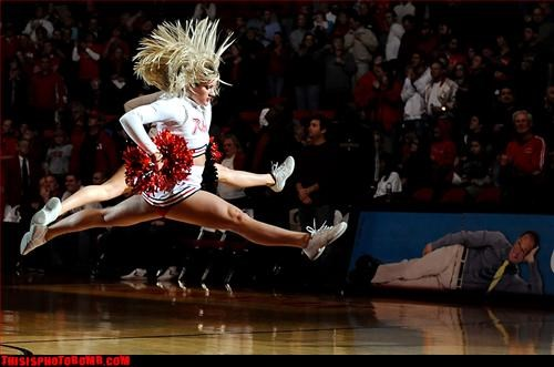 ad placement,caught in the act,cheerleaders,sexy times