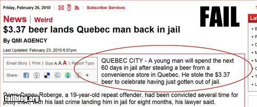 bad idea,beer,celebrate,failboat,jail