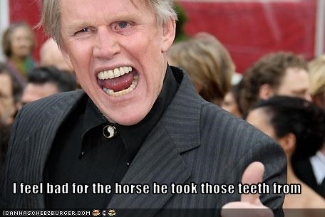I feel bad for the horse he took those teeth from