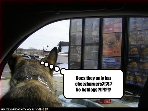 Does they only haz cheezburgers?!?!? No hotdogs?!?!?!?