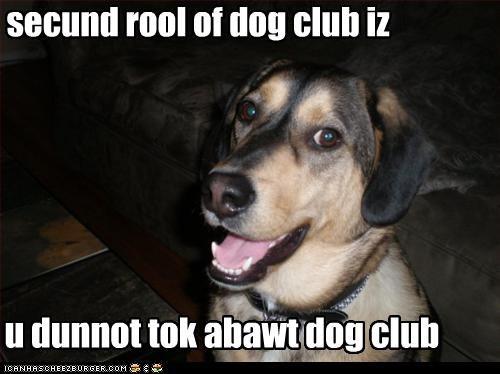 secund rool of dog club iz
