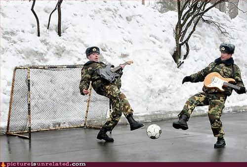 guns,ice,really wtf,soccer,soldiers,wtf