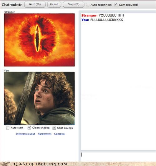 Chat Roulette,frodo,Hall of Fame,Lord of The Ring,sauron