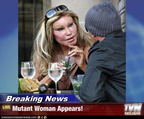 Breaking News - Mutant Woman Appears!