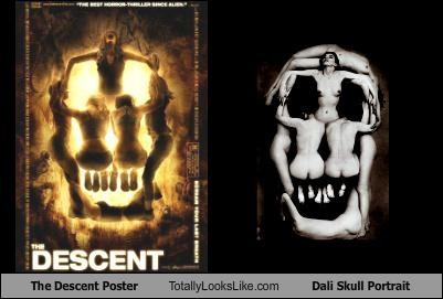 The Descent Poster Totally Looks Like Dali Skull Portrait