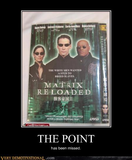 I Didn't Get the Matrix Reloaded at All