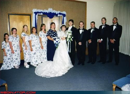 bridesmaids,Crazy Brides,fashion is my passion,grandmas-curtains,tacky,ugly bridesmaid dresses,wedding party,wtf