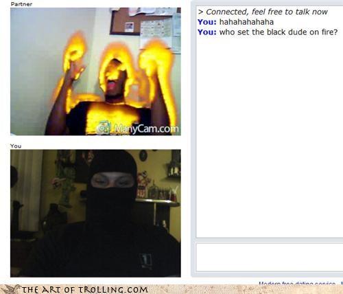 Chat Roulette,fire,masks,ninjas,racism,shopped