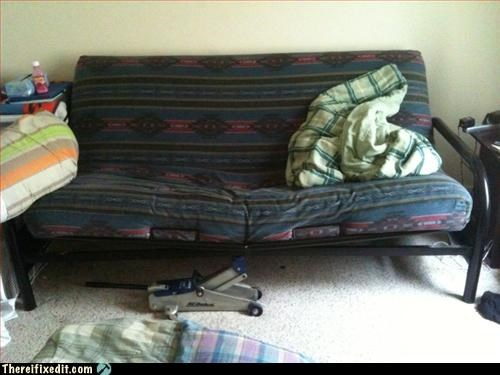 Jacked-Up Futon