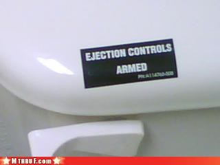 basic instructions,bathroom,boredom,clever,creativity in the workplace,ejection,ergonomics,flush,official sign,osha,sass,signage,Terrifying,toilet,toilet graffiti,wiseass