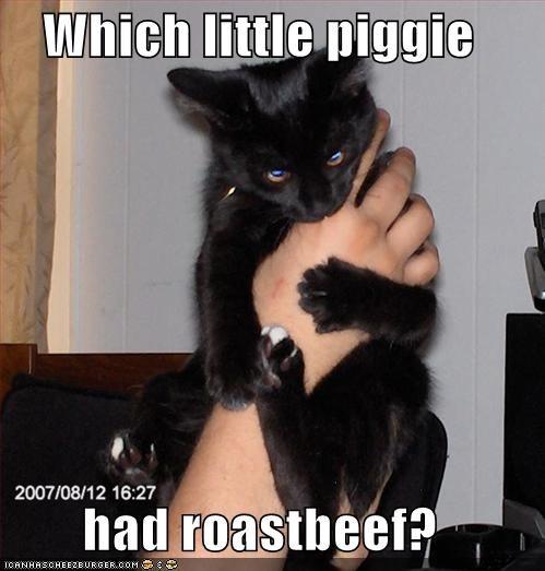 Which little piggie  had roastbeef?