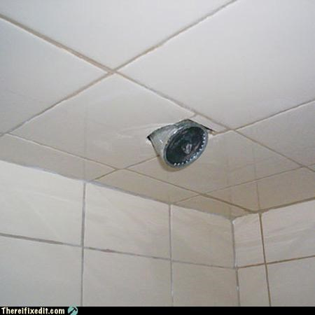 Bathroom ceiling was just a wee bit too low--