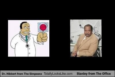 Dr. Hibbert from The Simpsons Totally Looks Like Stanley from The Office