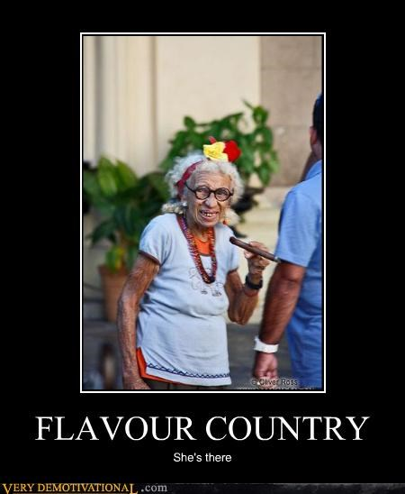 flavor country,country,old lady,cigar