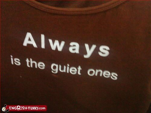 Always is...