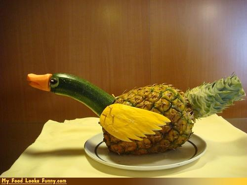 duck,fruits-veggies,pineapple,zucchini