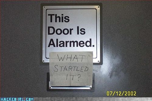 This Door Is Alarned