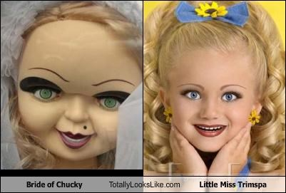 beauty pageant,Bride of Chucky,child,photoshop
