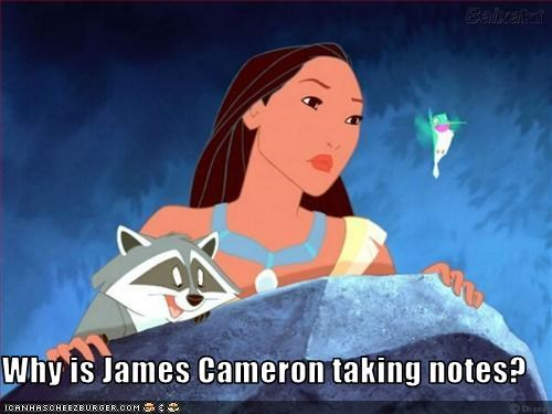 Why is James Cameron taking notes?