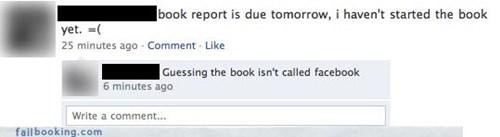 bad idea,book reports,homework,uh oh
