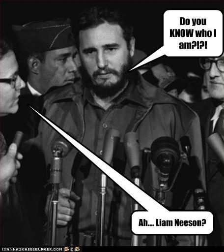 Fidel Castro,liam neeson,lookalikes