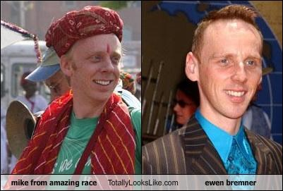 mike from amazing race Totally Looks Like ewen bremner
