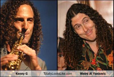 comedian,hair,Kenny G,musician,Weird Al Yankovic