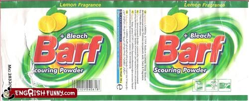 barf,cleaning solution,powder,scour